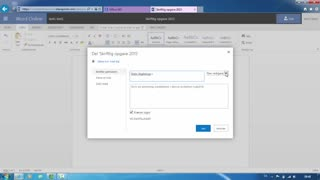 Del et dokument i Office 365