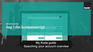 UK - My Koda guide: searching your account overview