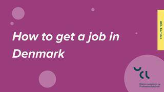 How to get a job in Denmark